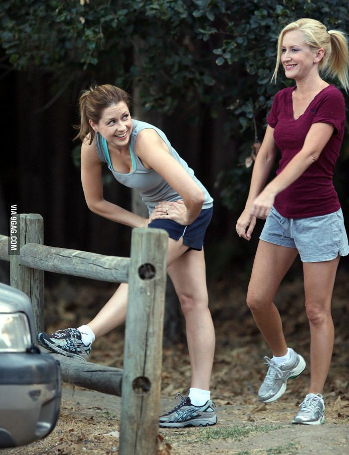 Pam and Angela aka Jenna Fischer and Angela Kinsey -Check the website for more hot celebrity pics