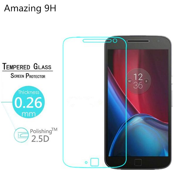 9H 0.26mm Tempered Glass Screen Protector For Motorola Moto G4 G4 Plus