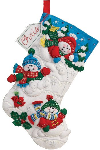 Fun in the Snow Stocking kit by Bucilla Large