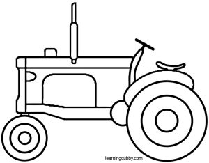 159 best vintage coloring books images on pinterest for Tractor template to print