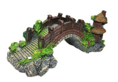 Resin Emulational Bridge Aquarium Ornament, 19x8.5x6.5cm