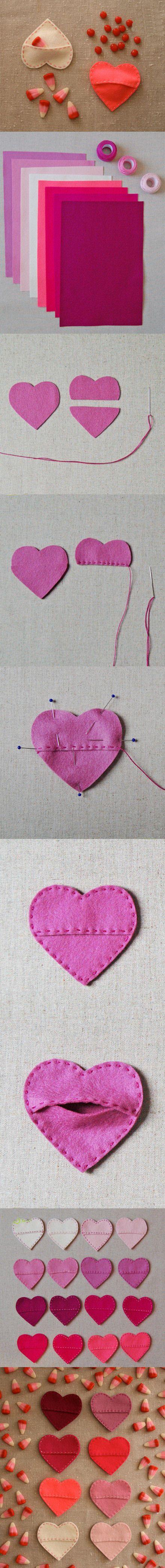 DIY Fabric Hearts diy craft crafts easy crafts craft idea diy ideas home diy easy diy home crafts diy craft diy hearts craft heart home craft