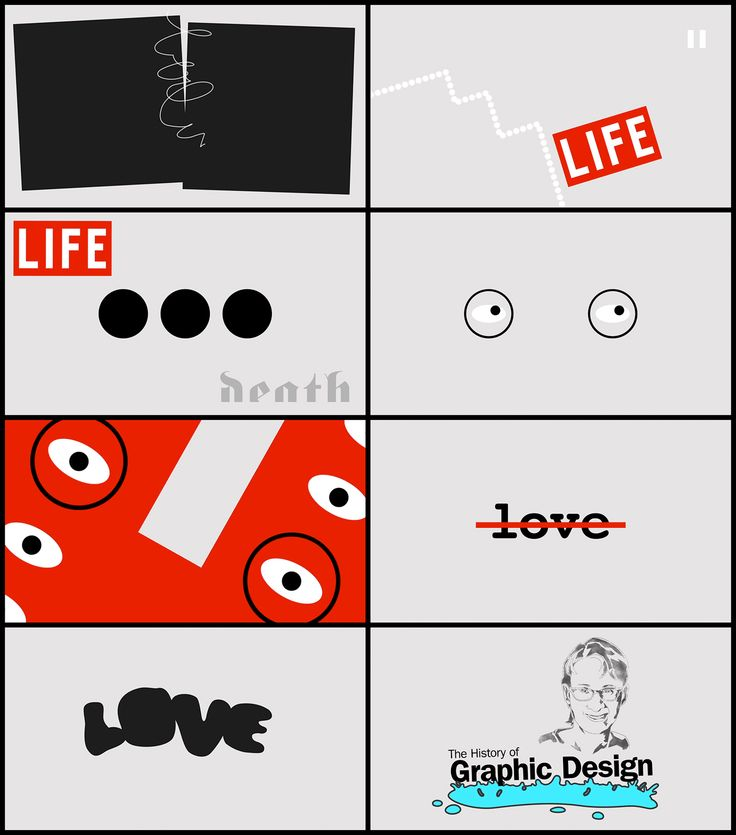 The History of Design - Motion graphics inspired by the work of designer Carin Goldberg - Julien Noguera on Behance