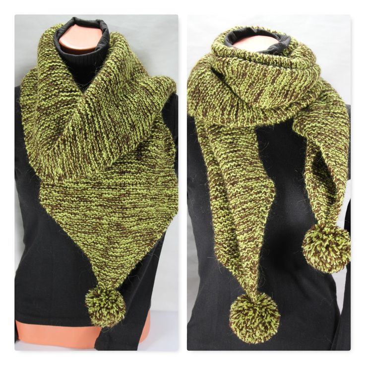Knit scarf, knitted scarf with pom poms, wool scarf, winter scarves for women, h…