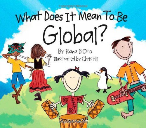 """In this whimsically-drawn and thoughtfully told story, children learn what it means to be global by visiting the pyramids, eating sushi, celebrating Kwanzaa, and learning how to say """"hello"""" in Swahili. The book is a conversation starter for parents and educators to teach children about the goodness in exploring, appreciating, and respecting other children's traditions, religions, and values the world over. #Children #Reading #Preschool #Books"""