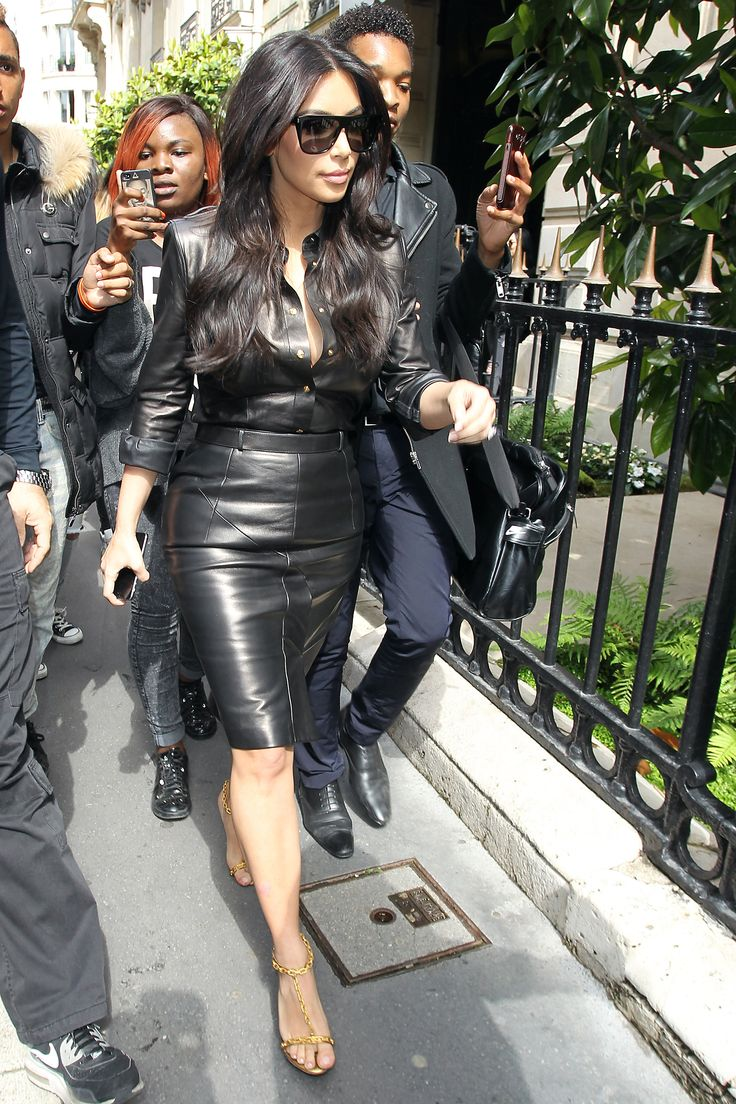 "Leather in any weather I say! I love when women go against the so called ""fashion rules"". Rules are made to be broken. Wear your leather in 90 degree weather Mrs. West!"