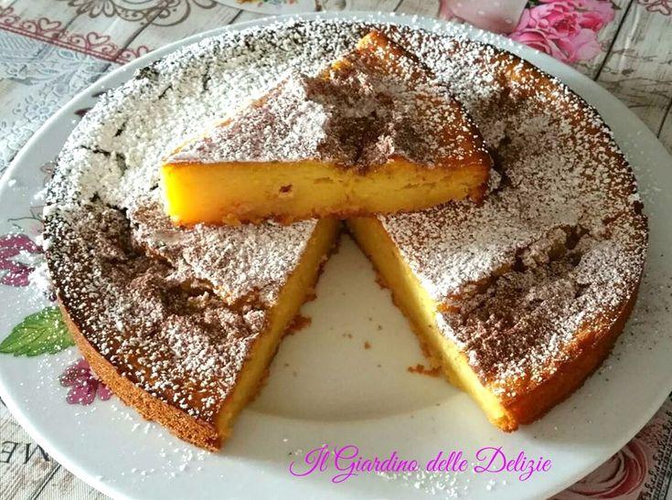 Torta+morbida+ricotta+mele+e+cioccolato+bianco