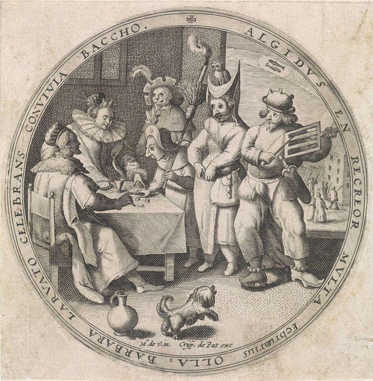 Februari: Vastenavond, Crispijn van de Passe (I), 1580 - 1588