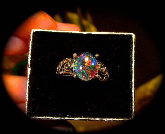 17 Best ideas about Black Opal Ring on Pinterest