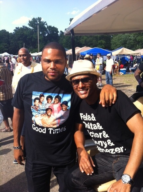Kenny Lattimore & Anthony Anderson at Capitol Festival 2012