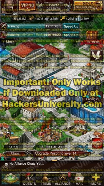 Game of War - Fire Age Hack and Cheats: Unlimited Gold and Free Shopping Mod for Game of War: Fire Age.