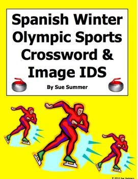 Spanish Winter Olympic Sports Crossword Puzzle and Vocabulary by Sue ...