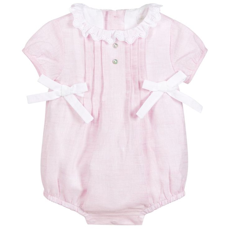 Laranjinha - Baby Girls Pink Linen Shortie |