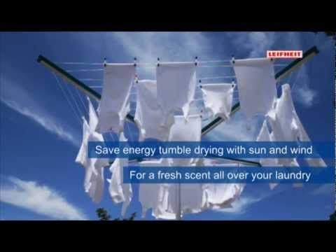 Leifheit Linomatic-Outdoor Clothes Dryer - YouTube