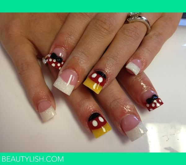 Mickey Mouse Nails: Http://i.beautylish.co/U7v8QvHexBs01vGrMv5pOggABgA/tlw-fd