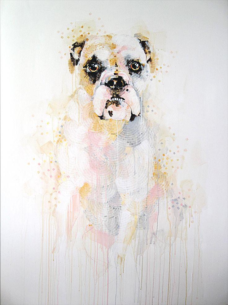 """Bulldog"" painting by Michael Cain- Gnashing Teeth (gnashingteeth)"