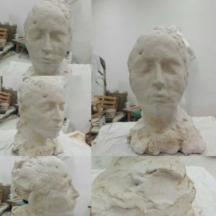 """The Dream"" #head #fast #portrait #sculpture #plaster"