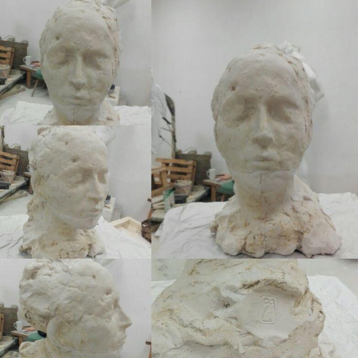 """The Dream"" #head #fast #portrait #sculpture #plaster"