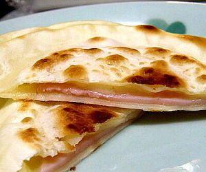 ハムとチーズのパリパリ餃子