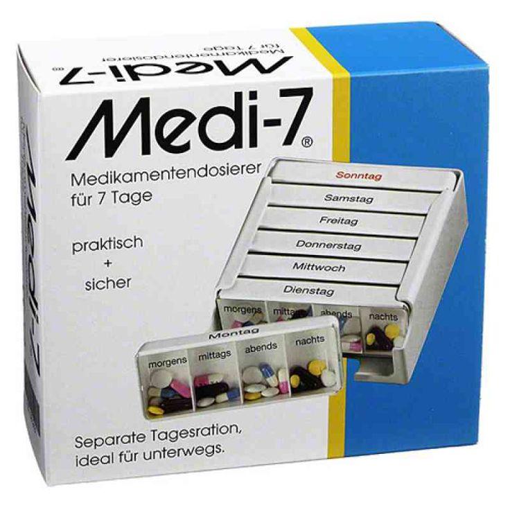 Medi 7 Medikamenten Dosierer für 7 Tage 1 stk kaufen bei der Online Apotheke apo-discounter. Wir liefern als Versandapotheke Medikamente zu günstigen Preisen. Einfach und sicher online in der Apotheke bestellen. Kostenloser Versand mit DHL ab 29 Euro
