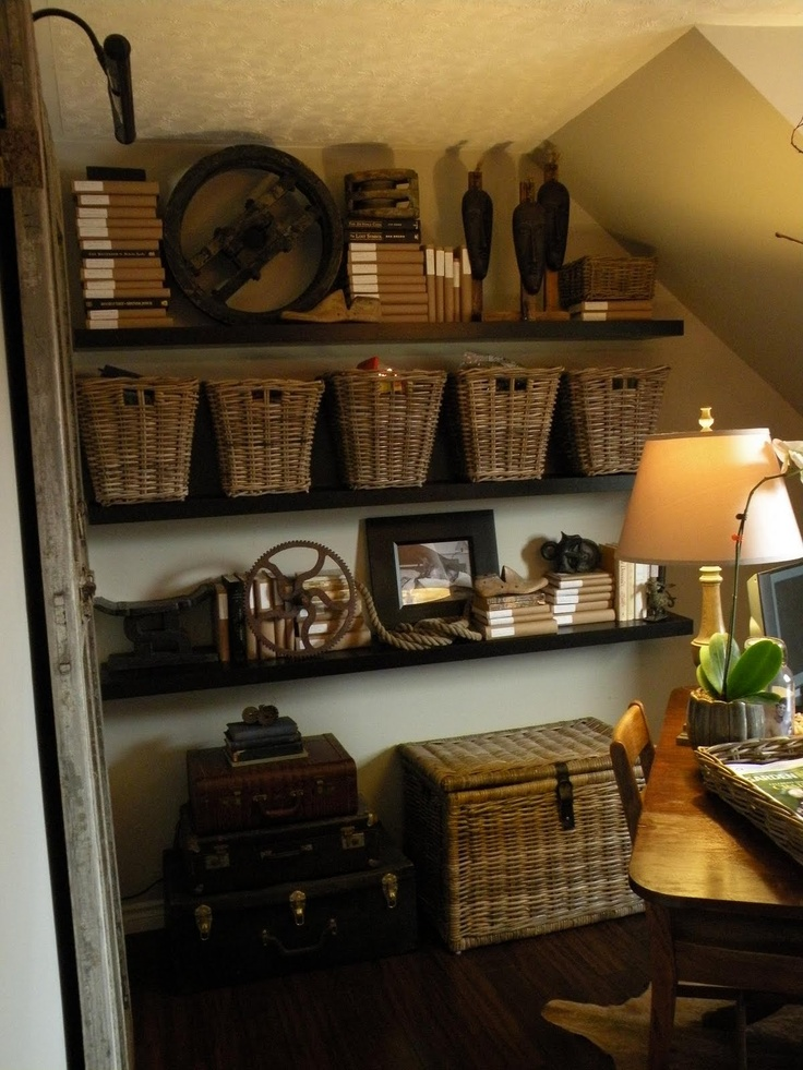 17 best images about hanging basket shelves shelf ideas on pinterest storage bins hanging. Black Bedroom Furniture Sets. Home Design Ideas