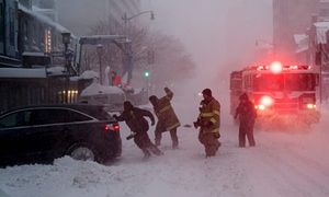Blizzard and hurricane winds kill 19 people in northeastern US states People were killed in car accidents, while three died in New York City shovelling snow, and two of hypothermia in Virginia