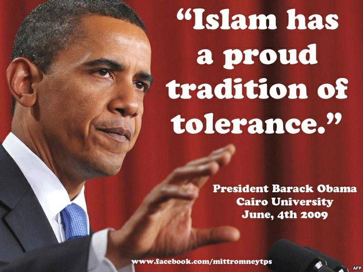 Obama quote about how tolerant Islam is. Let's ask the decapitated Christians how tolerant Islam is. And people actually buy this bullshit???