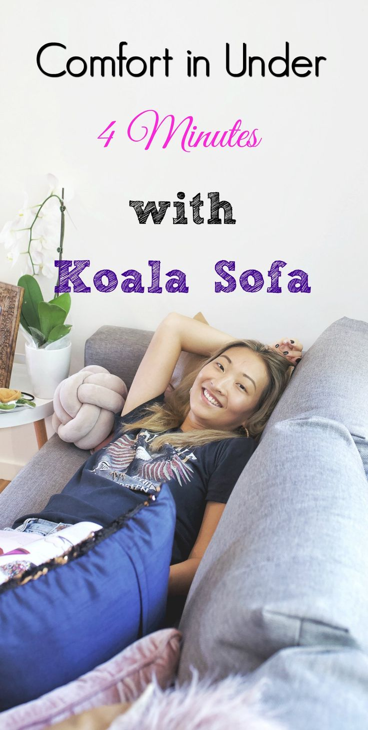 The most comfortable and affordable couch on the market right now and it only takes four minutes to assemble!
