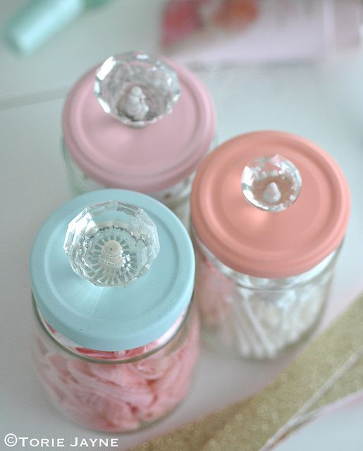 Upcycled Jars with Knobs