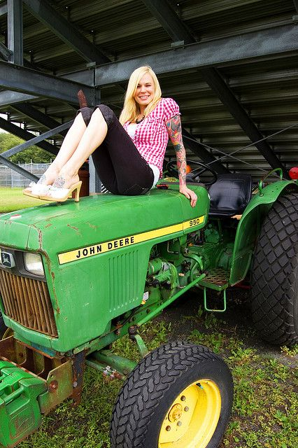Sexy girl on john deere tractor apologise