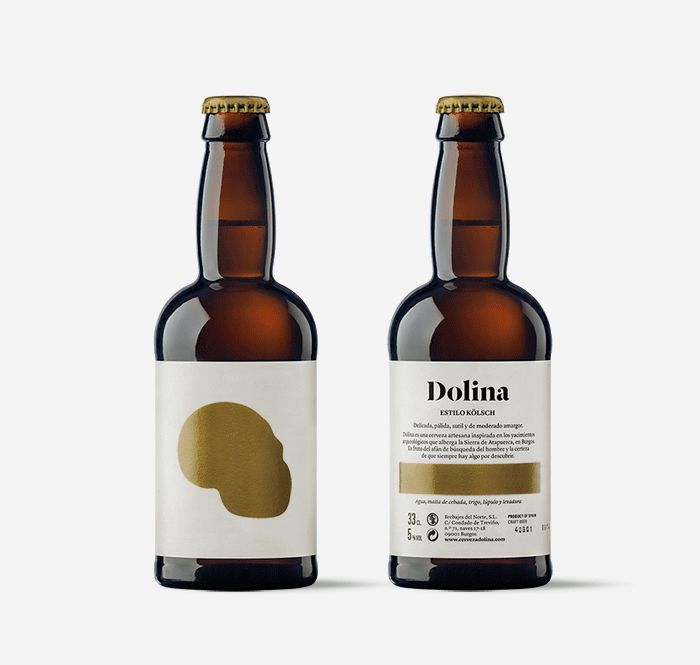 Design of packaging for Dolina Craft Beer. Diseño de packaging para Dolina Cerveza Artesana. moruba.es