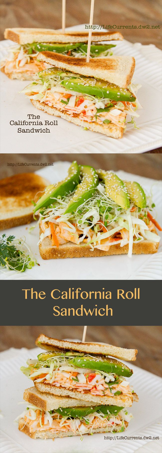 California Roll Sandwich .. a fabulous way to satisfy a sushi craving!