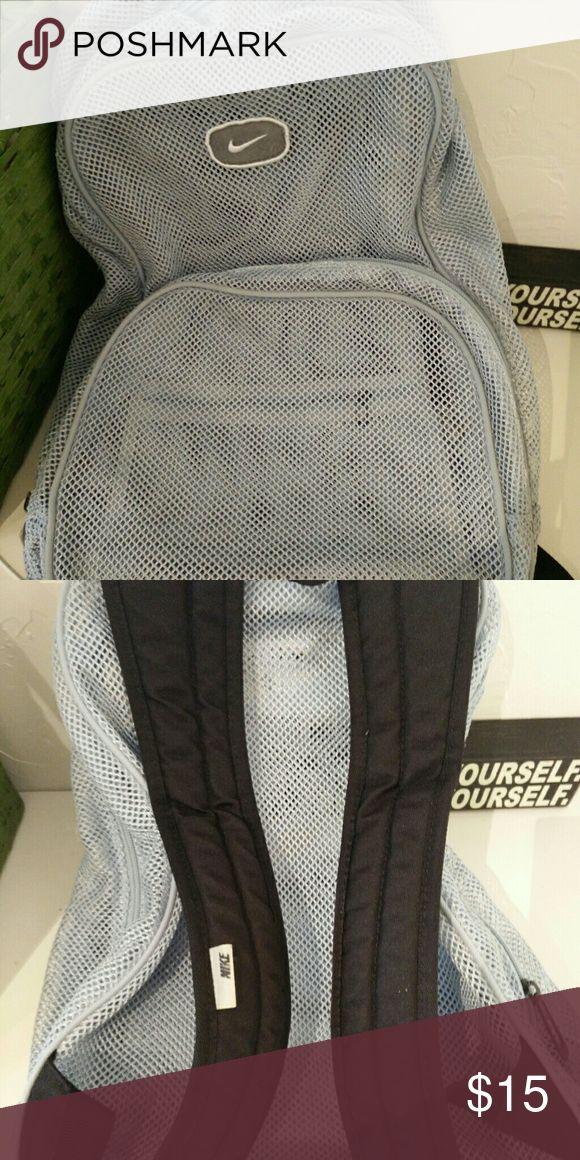 Nike Backpack Sky blue Nike mesh backpack. W/three separate compartments. Nike Bags Backpacks