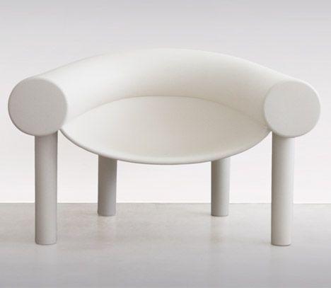 Lovely Konstantin Grcic us Sam Son chair has a tube shaped backrest