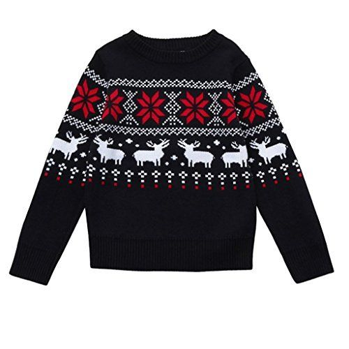 """Product review for Sunsee Baby Girls Boys Christmas Deer Print Sweater Knit Outerwear.  Size Chart For Baby Size:24M Label Size:5 Bust:62cm/24.4"""" Sleeve:38cm/15.0"""" Length:39cm/15.4"""" Height:90CM  Size:3T Label Size:7 Bust:65cm/25.6"""" Sleeve:40cm/15.8"""" Length:42cm/16.5"""" Height:100CM Size:4T Label Size:9 Bust:68cm/26.8"""" Sleeve:42cm/16.6""""..."""