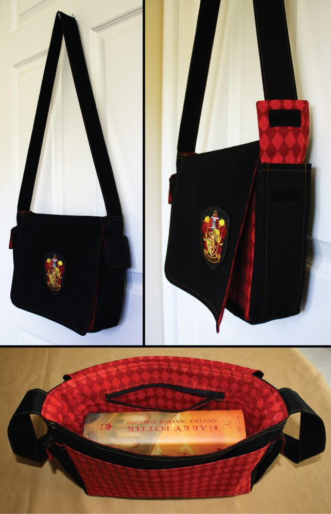 Harry Potter Book Bag : Harry potter gryffindor house messenger bag ready to