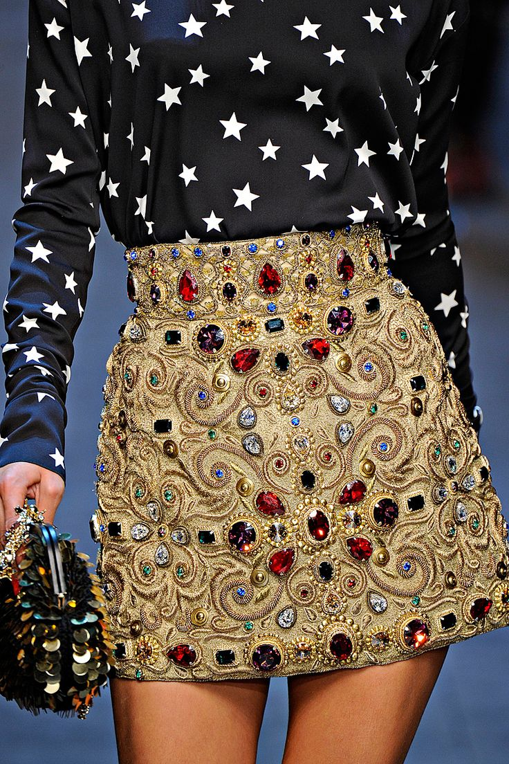 Bejeweled skirt -- Dolce & Gabanna Fall 2011