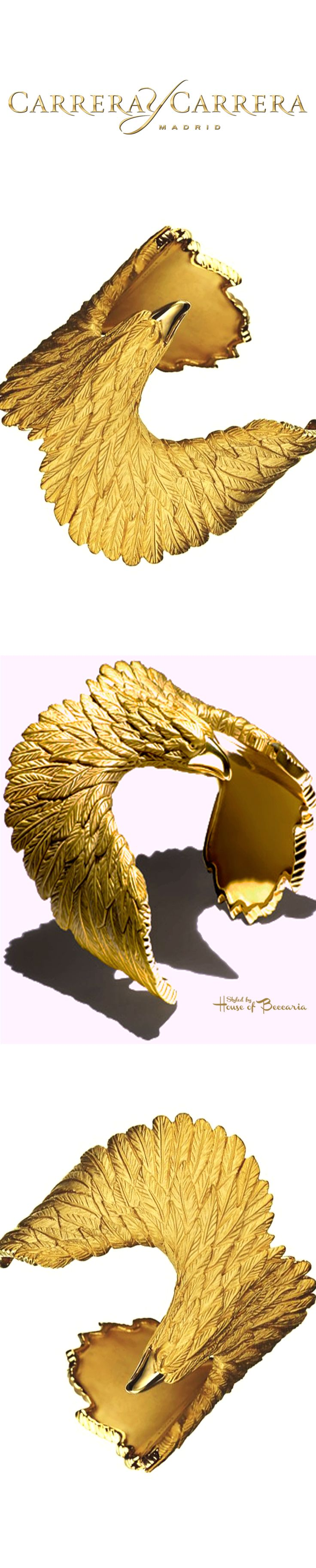 ~Carrera Y Carrera 18k Gold Eagle Bestiario Collection | House of Beccaria