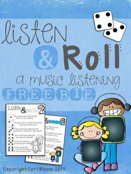 Listen & Roll, A Music Listening FREEBIE
