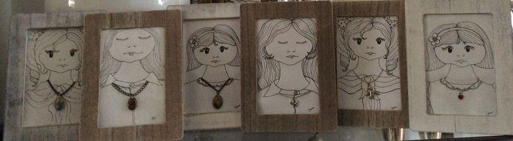 Mijn meiden...kleine schilderijen... Made by: Handmade by Ana Analondonop@gmail.com