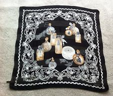 Vintage lanvin paris винтаж флакон духов шелк шифон квадратный шарф