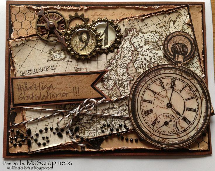 91st birthday card - Prima Engraver - by Ms Scrapmess