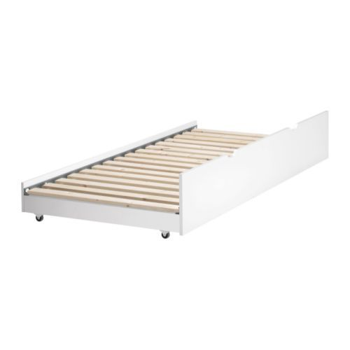 FLAXA Pull-out bed, white white Twin