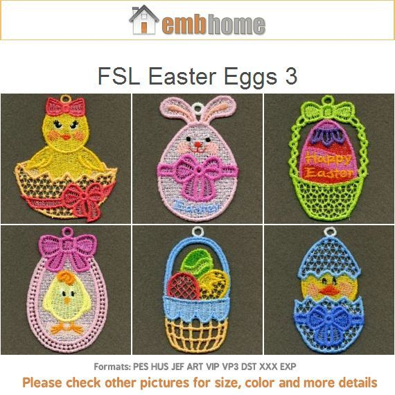 Free Easter Fsl Embroidery Designs