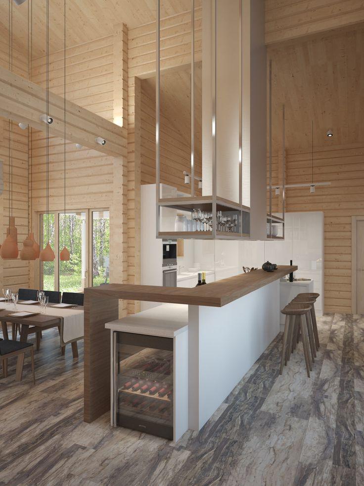 Фото из статьи: Перепланировка деревянного дома: пример из Подмосковья