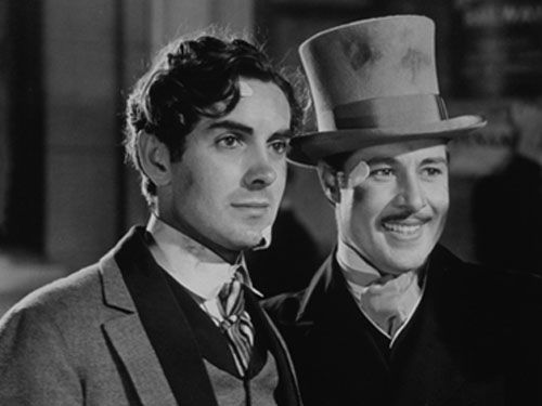In Old Chicago (1937) . . .Tyrone Power and Don Ameche . . .aka, Dion (the CREEP!) and Jack (<3) ;)