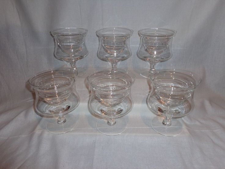 Glass Shrimp Cocktail Fruit Chiller Glasses with Glass Liners (6)