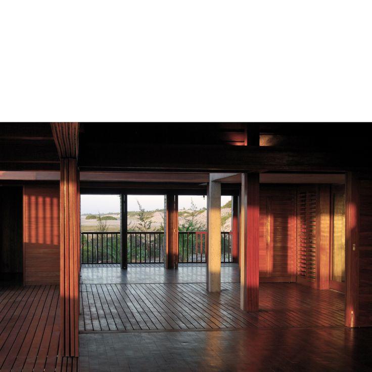 Behbahani Hall Architects / Beach House Preà, Brazil / Sliding timber shutters, sea view, beach, timber deck