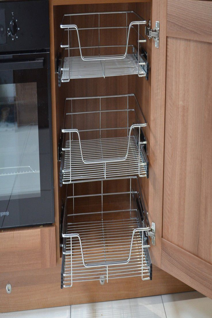 60 99 Gbp Pull Out Wire Baskets Kitchen Cabinet Larder Cupboards