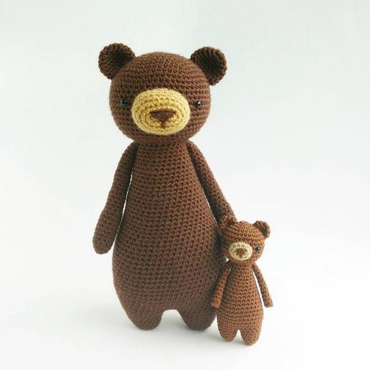 This is a pattern to make this lovely mini bear! The pattern includes many pictures and detailed explanations. It's in PDF format and will be available for download immediately after purchase. The pattern is available in English. The bear can be made with any yarn and crochet hook size of choice. The one in the picture is made with DMC Natura Just Cotton yarn and a 2.25 mm (size B) hook. It turned out 12 cm (4.7 inches) tall. Level: intermediate The following stitches are used: Regular…